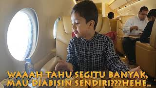 Hadi First Trip With Private Jet