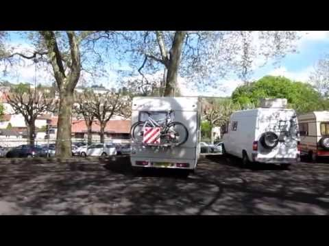Motorhome aire in Aurillac, Cantal, France