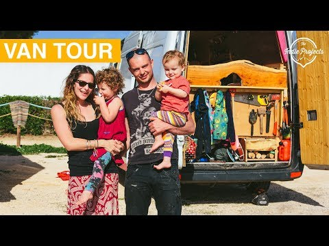 Can a FAMILY live in a Van & Travel the World?! Sprinter Van Tour