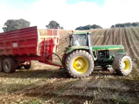 ensilage jd 4955 avec chevance 18t