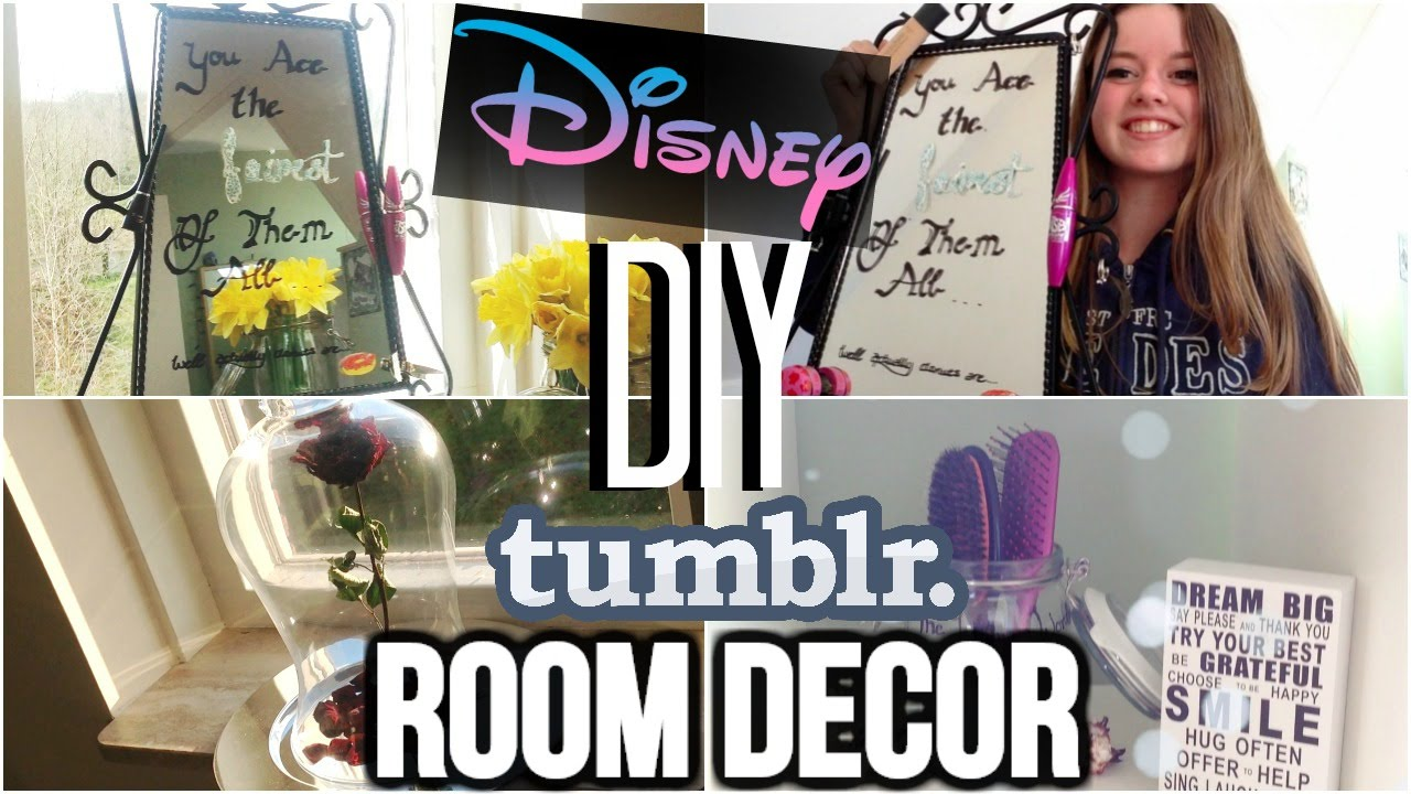 DIY ROOM DECOR Disney// Tumblr Pinterst Inspired - YouTube