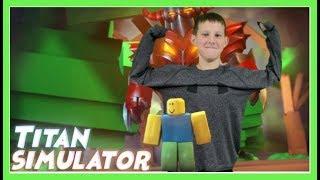 ROBLOX TITAN SIMULATOR - GET BUFF!!!
