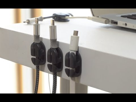 Messy Cables? BEST way to store cables with Ringke Cable Clip Holder!