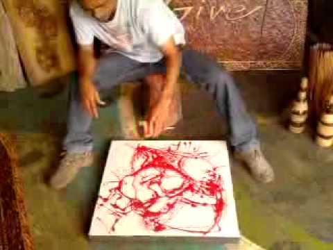 Pour painting modern art conceptual art II