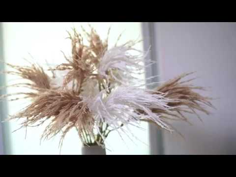 artficial common reed, wedding flowers