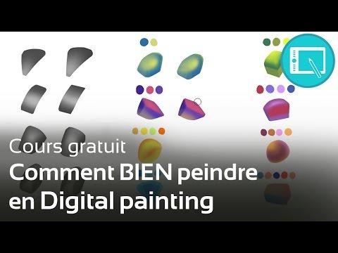 TUTO : Comment bien peindre en Digital painting [Programme 1-Chap 1]