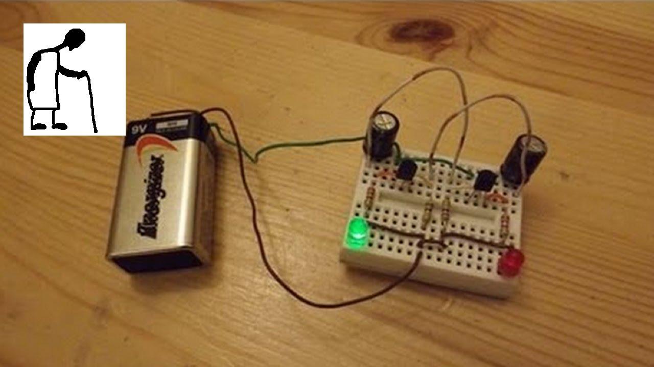Lets Make A Scary Halloween Thing Part 1 Flashing Eyes Youtube 555 Led Flasher One Transistor Blinking Circuit 5