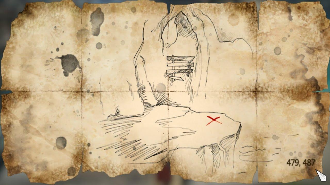 Assassins Creed Iv Black Flag Treasure Map 479 487 Youtube
