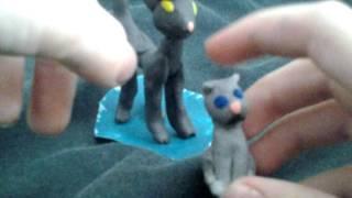 Коты  из пластилина