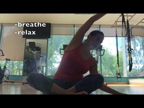 Side Stretch Pose Tutorial with SunLight Yoga www.sunlightyoga.com