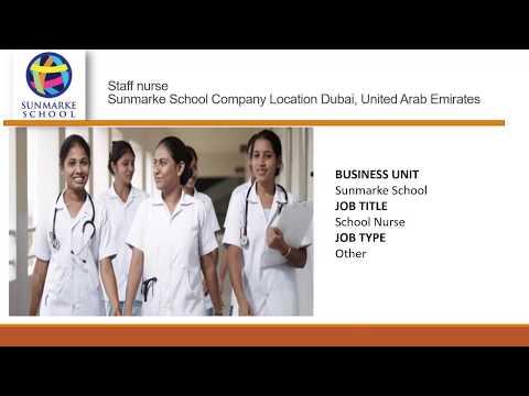 Staff nurse job vacancy  Dubai