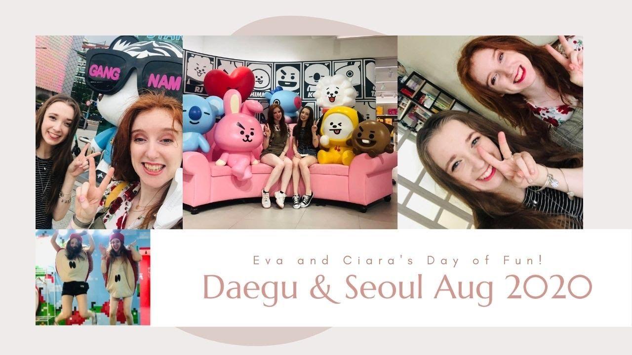 WE SAW A FAMOUS SM IDOL!! - Daegu & Seoul Vlog ❤️   SM, Line Store, Fruit Museum