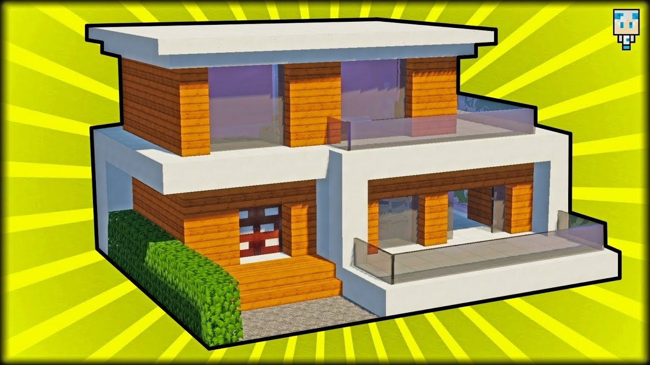 Tuto grande maison moderne facile faire minecraft youtube - Faire plan maison facile ...