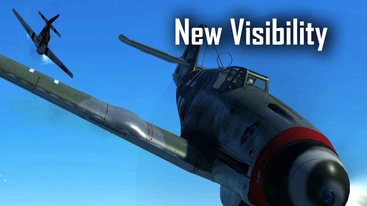 Enjoying the improved visibility in the Kurfürst - IL-2: Great Battles