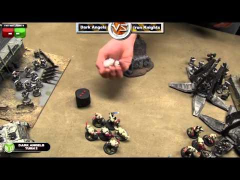 Dark Angels vs Iron Knights Warhammer 40k Battle Report - Space Marine Week Game 3