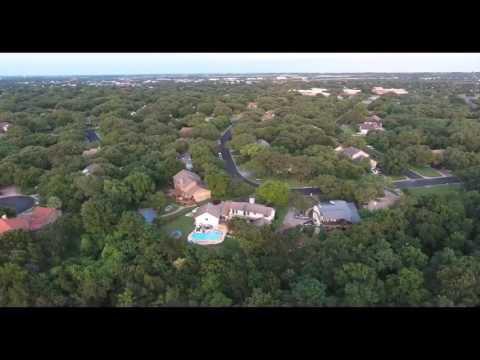 Drone on San Gabriel river in Georgetown Texas