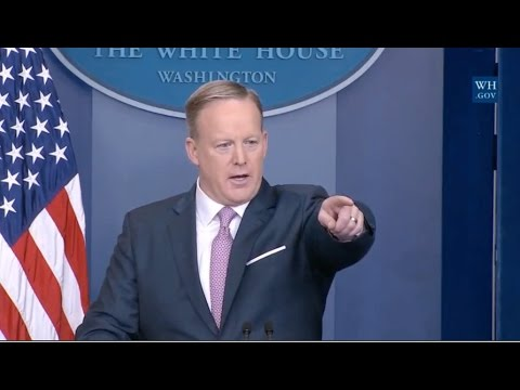 Trump Press Secretary Holds First Official News Conference- Full Event