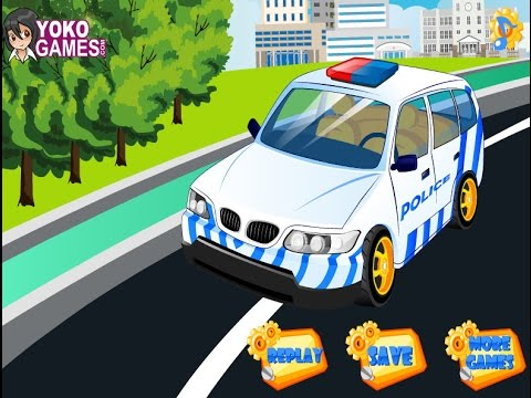 Автомойка - Полицейская машина Мультик Игра для детей. Car wash - Police car Cartoon Game for kids.