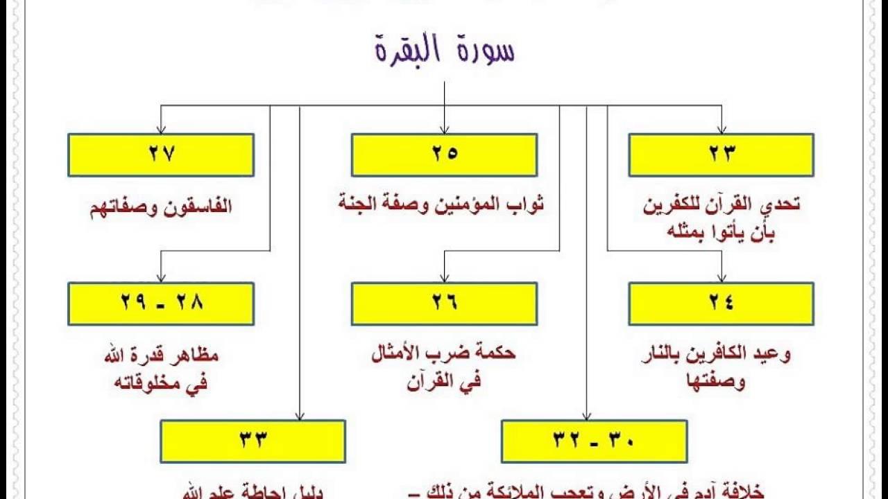 الخرائط الذهنية لسور القرآن الكريم الجزء الأول Youtube