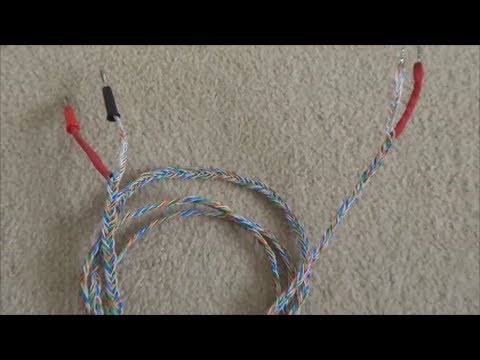 How to build CAT5 Braided Speaker Cables - YouTube