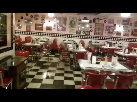 Cool old school American retro diner. BATJAC J.W