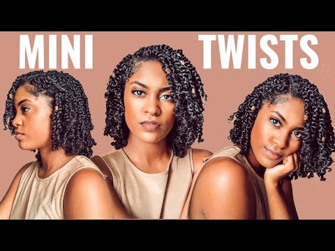 PROTECTIVE STYLE | MINI TWISTS On WET NATURAL HAIR | HOW TO
