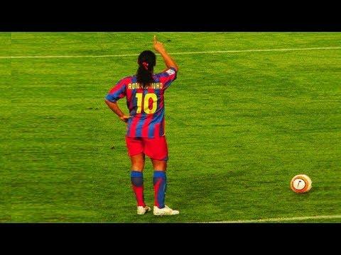 رونالدينيو ● أجمل الأهداف و المراوغات في التاريخ ● تعليق عربي