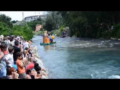 Dronero (CUNEO)  la gara di barche Maira no Limits 2015