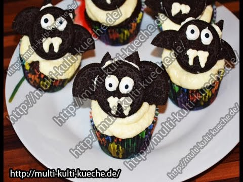 rezept rezepte fledermaus muffins halloween youtube. Black Bedroom Furniture Sets. Home Design Ideas