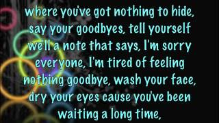 Black and Blue - Counting Crows w/ lyrics on screen