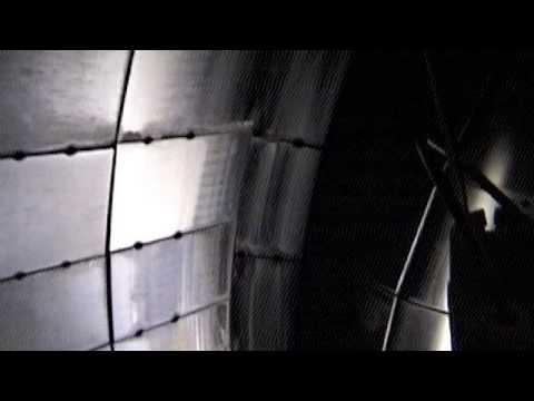 Inside the Fusion Reactor DIII D tokamak