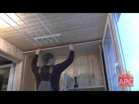 Встроенный шкаф купе на балконе Своими руками