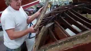 '46 Gar Wood Ensign Bottom Framing Deconstruction Complete 10 7 13