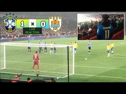 BRAZIL 1 x 0 URUGUAY  MY FIRST TIME WATCHING BRAZIL PLAY  🇧🇷