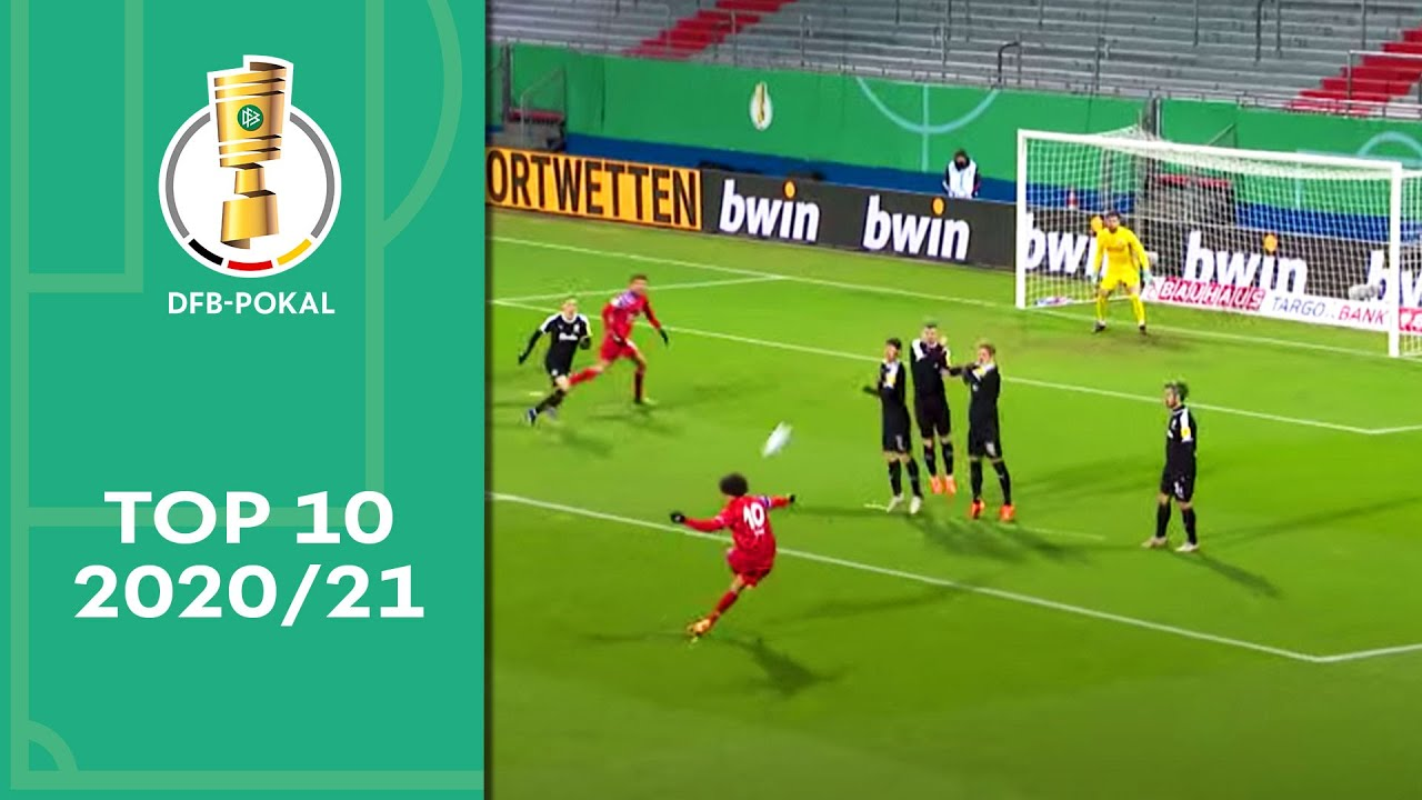 This Magic Leroy Sané Free Kick 🔥 Top 10 DFB-Pokal Moments 2020/21