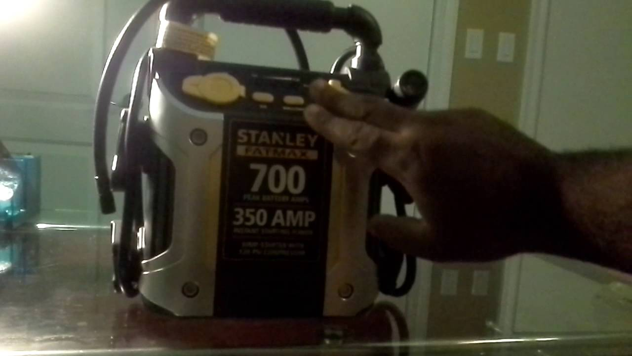 Review: Stanley Fatmax 700 amp Jump Starter and Air Compressor