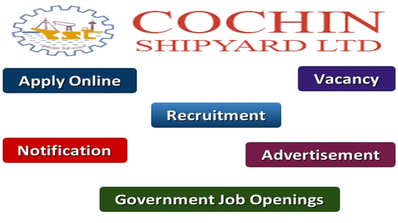 Cochin Shipyard Recruitment 2016