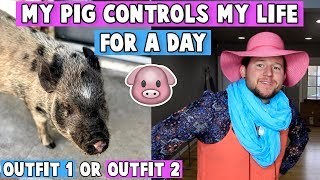 My Pet PIG Controls My Life for a Day