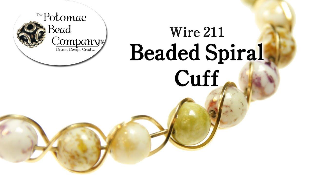 Make a Beaded Spiral Cuff Bracelet - YouTube