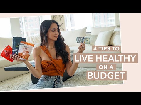 HEALTHY EATING ON A BUDGET | 4 Grocery Shopping Tips To Save Money | Mona Vand