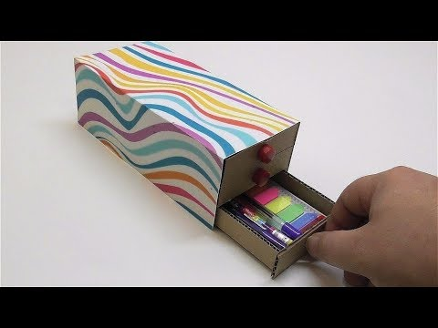 Pencil Box DIY How to make a pencil case out of cardboard