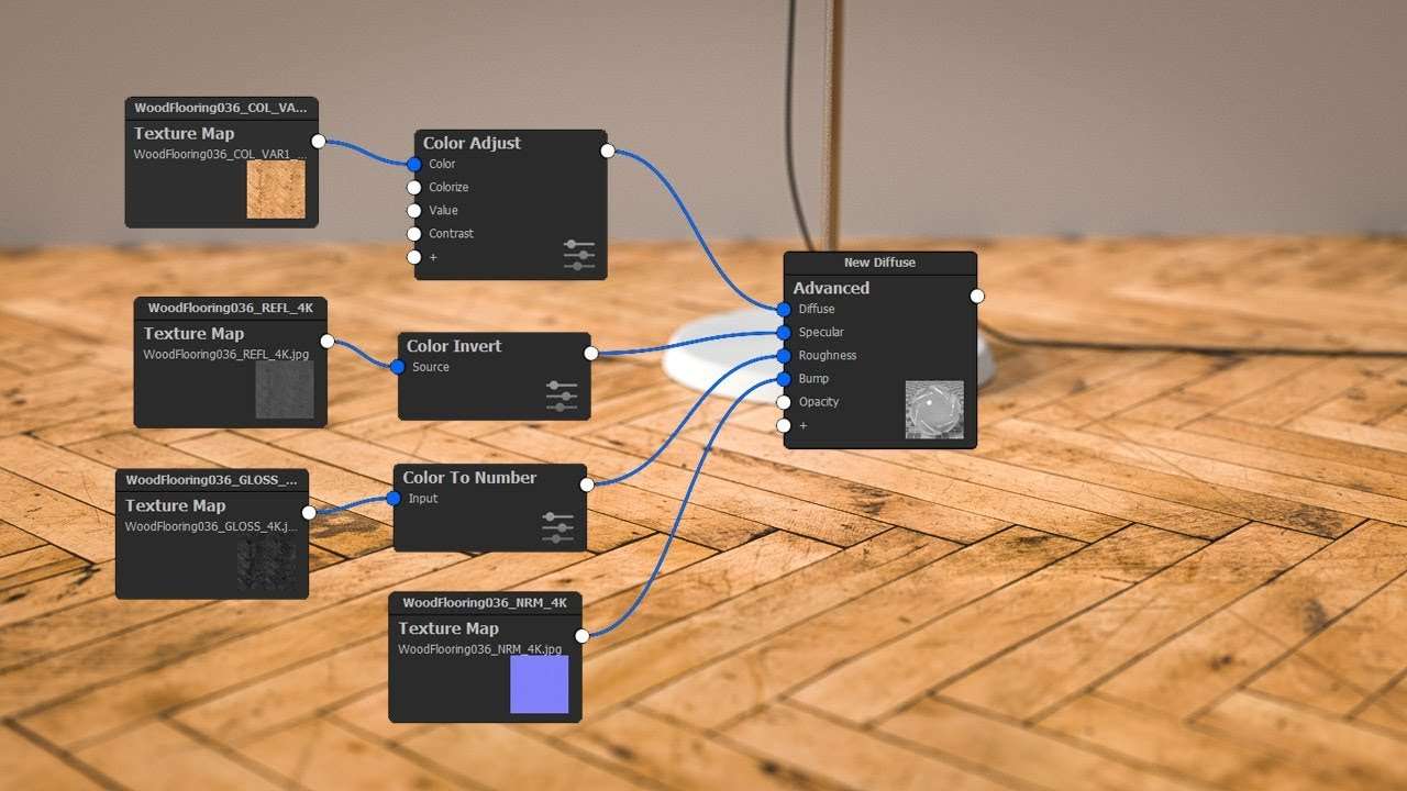 How to use Poliigon maps to create materials in KeyShot 7 Pro