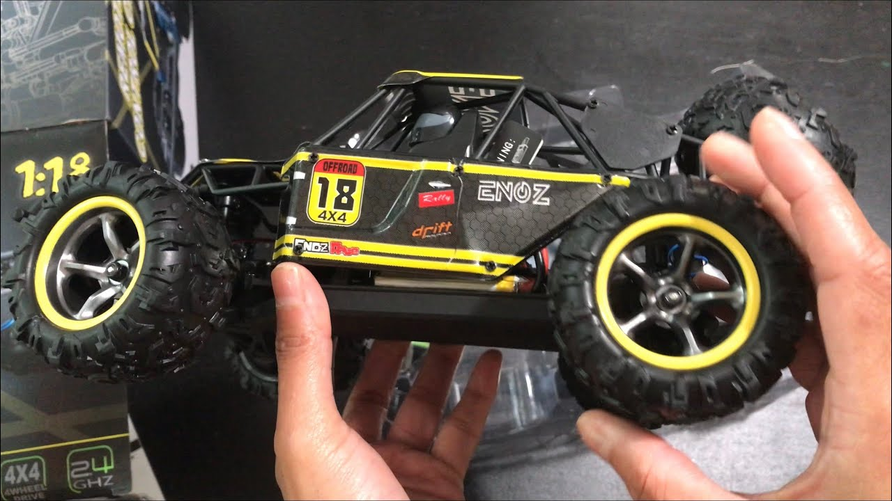 Fcoreey 4WD RC Cars 1:18 Scale 40km//h High Speed Racing Vehicle Electric Car,All Terrain Waterproof Hobby RC Crawlers for Kids and Adults Remote Control Car