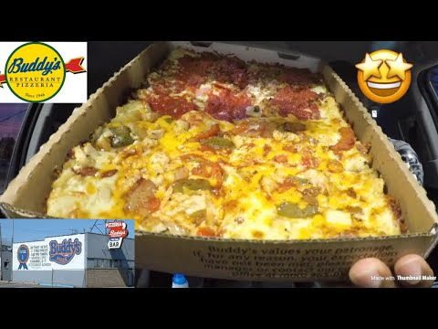 Buddy's Pizza Food Review!!! | MAM EATING SHOW