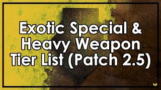 Destiny Rise Of Iron: The Best & Worst Exotic Special & Heavy Weapons (Tier List Patch 2.5)