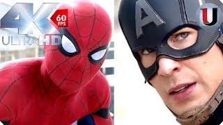 Captain America: Civil War - Airport Battle Spider Man vs Cap - IMAX MOVIE CLIP (4K)
