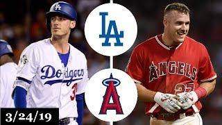 Los Angeles Dodgers vs Los Angeles Angels Highlights   March 24, 2019   Spring Training
