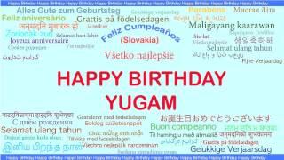 Yugam   Languages Idiomas - Happy Birthday