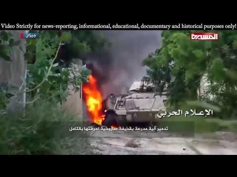 Husiler Suudi Tank konvoyunu Yemende sıkıştırıp havaya uçurdu