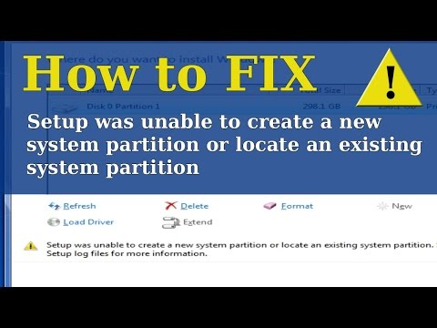 Fix - Setup was unable to create a new system partition or locate an existing system partition